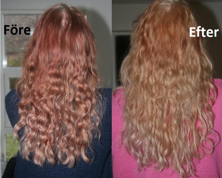 c vitamin bleka hår