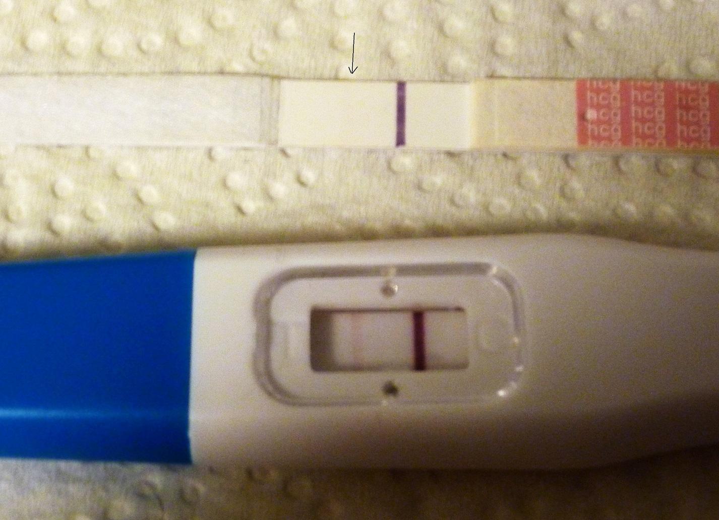 positivt graviditetstest utan att vara gravid