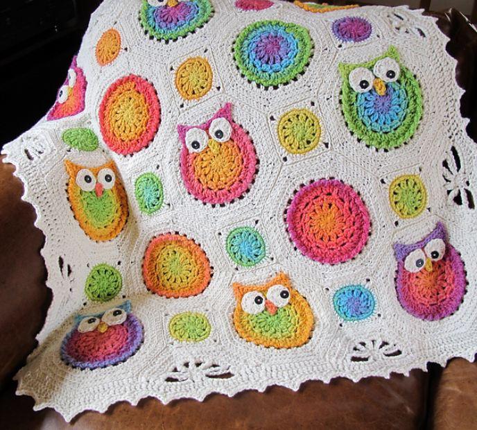 Crochet Baby Blanket Patterns Australia : Virka m?nster - uggla - Hj?lp - Virkning iFokus